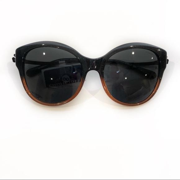Coach New w Tags Cat Eye Amber Glitter Sunglasses